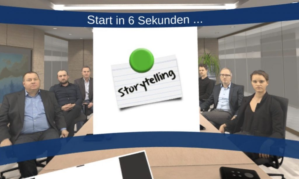 Training vor virtuellem Publikum